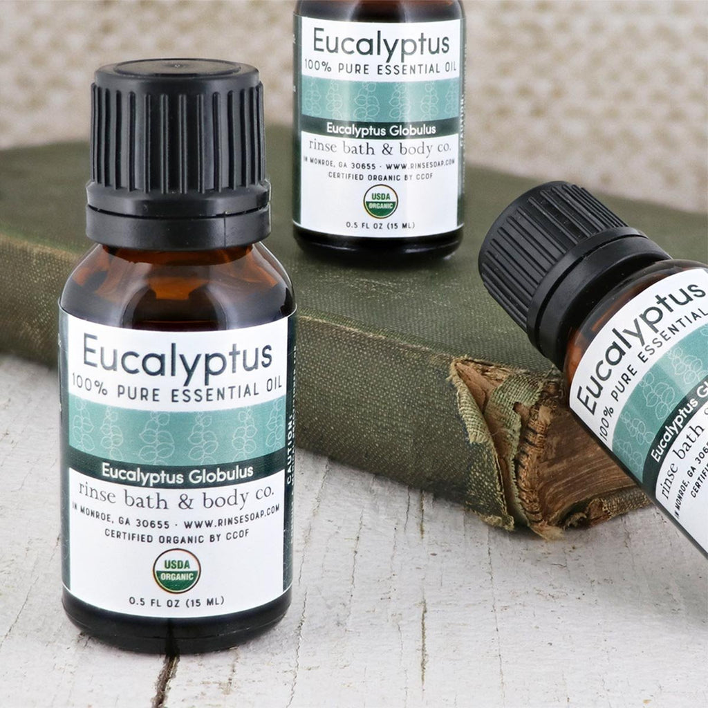 Eucalyptus Essential Oil - Certified Organic - wholesale rinsesoap