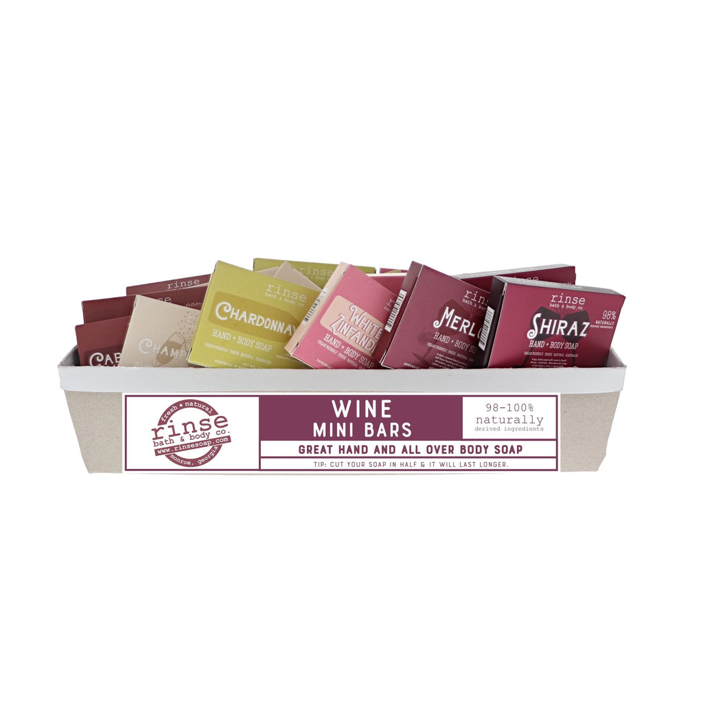 Mini Wine Bars - 48 Assorted (8 - CAB, CHMP, CHAR, MER, SHIR, WZ) - wholesale rinsesoap