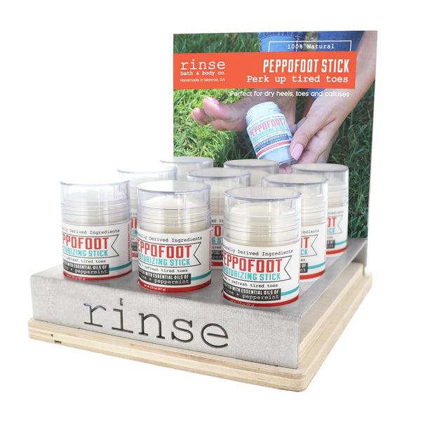 Peppofoot Stick Display - Filled - wholesale rinsesoap