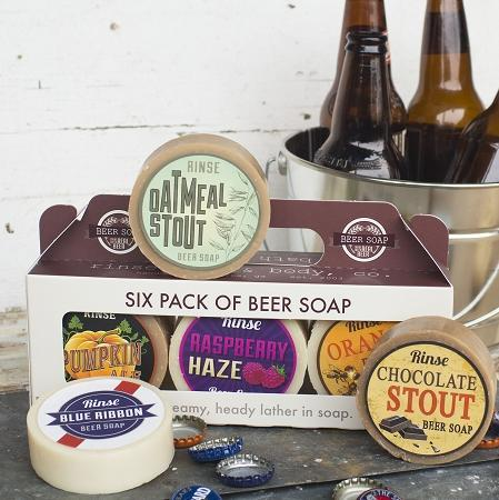 Six Pack of Beer (soaps) - wholesale rinsesoap