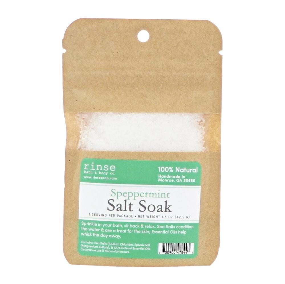 Speppermint Soaking Salts - wholesale rinsesoap