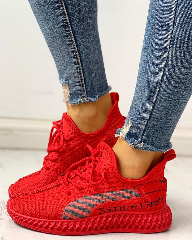 Lace-Up Breathable Casual Sneakers