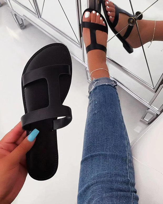H Shape Slide Sandals