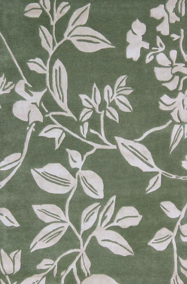 Leaf Trail Green - The Rug Loft rugs ireland