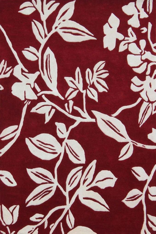 Leaf Trail Red - The Rug Loft rugs ireland