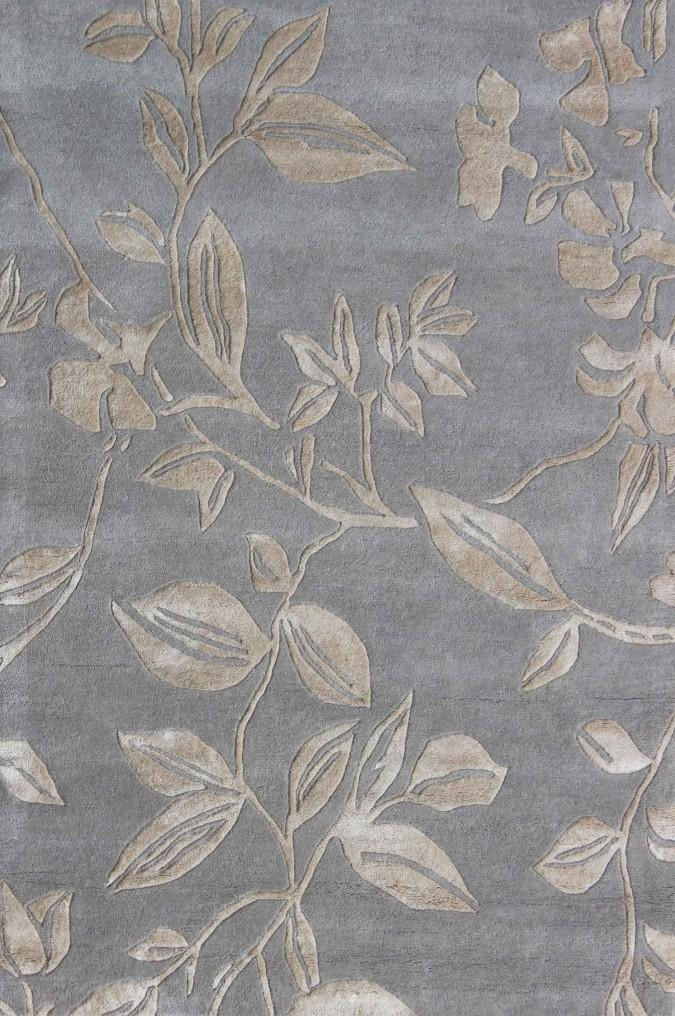 Leaf Trail Silver - The Rug Loft rugs ireland