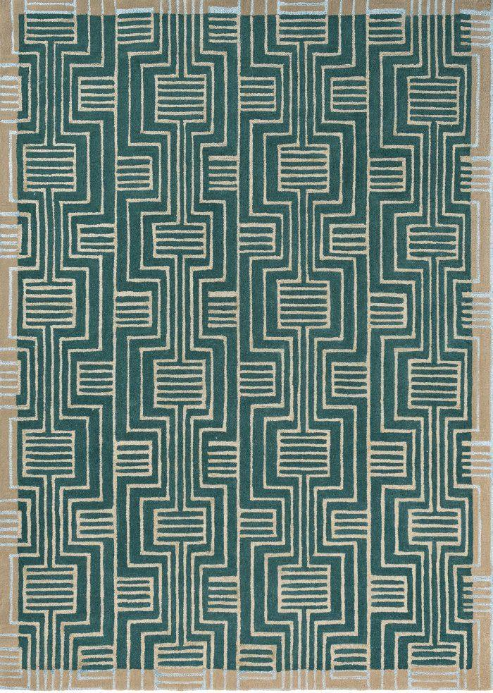 Kinmo Green 56807 - The Rug Loft rugs ireland