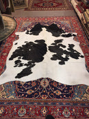 Medium Black/White Cow Hide Actual Image