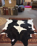 Large Black/White Cow Hide Actual Image