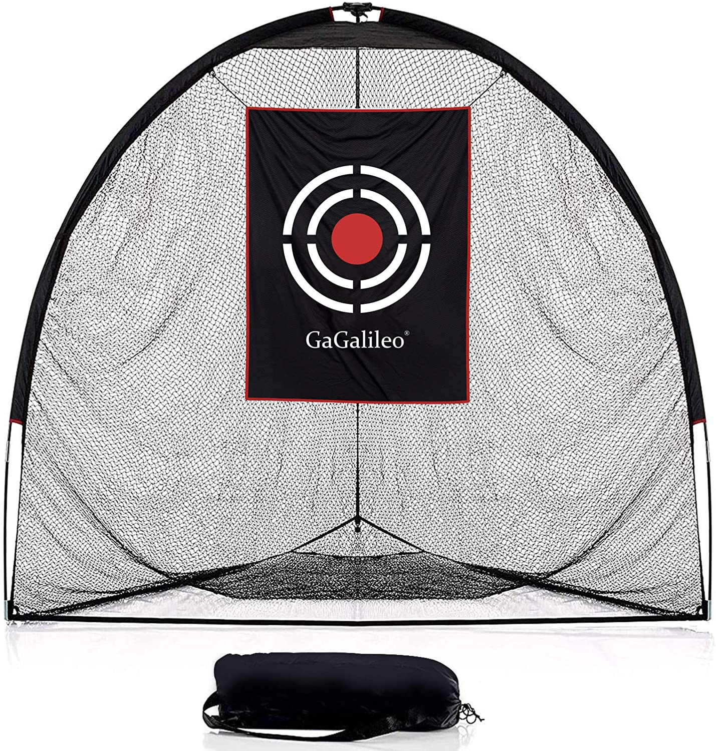 Galileo Golf Practice Hitting Nets Driving Range Training Aids with Carry Bag and Target|8'(L)X7'(H)X7'(D)