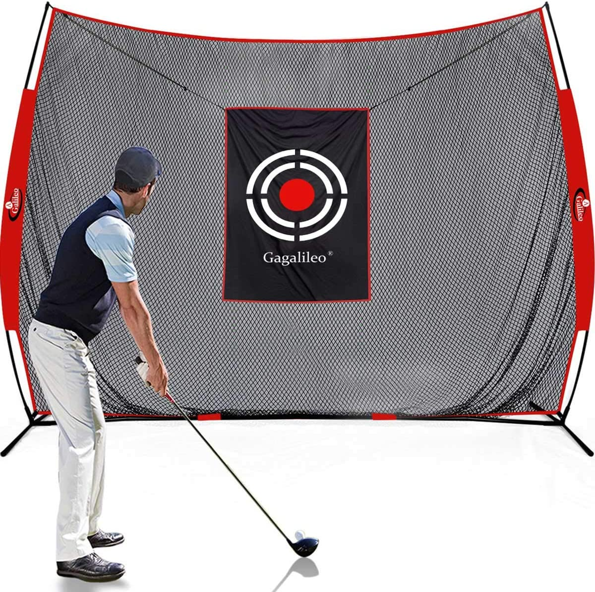 Galileo Sports Golf Practice Net for Backyard Driving Golf Hitting Nets 10X8FT Golf Driving Range for Indoor Use with Target and Carry Bag