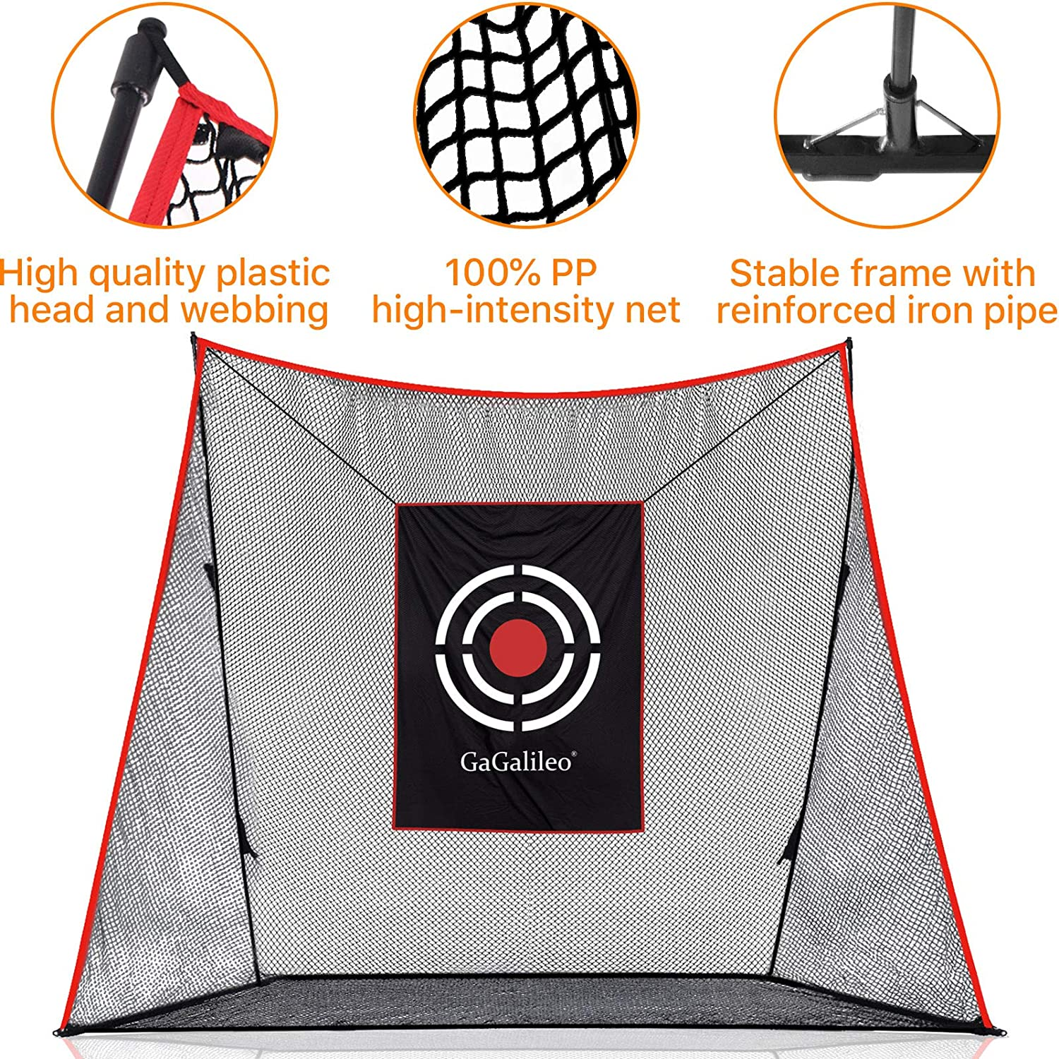 Galileo Golf Practice Hitting Net for Backyard Golf Net Driving Range with Golf Target and Carry Bag | 12'x10'x4'Size
