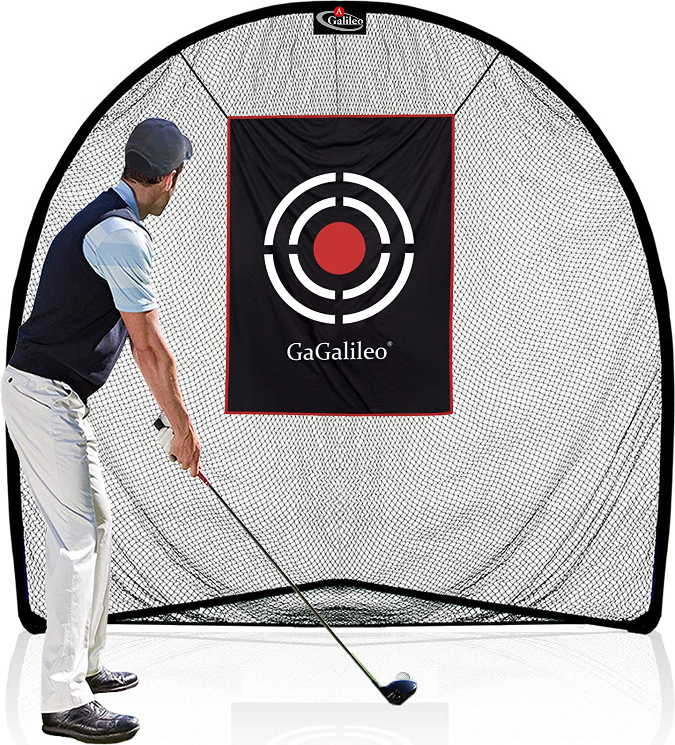 Galileo Golf Practice Net Hitting Nets Indoor & Outdoor Driving Range Training Aids with Carry Bag and Target