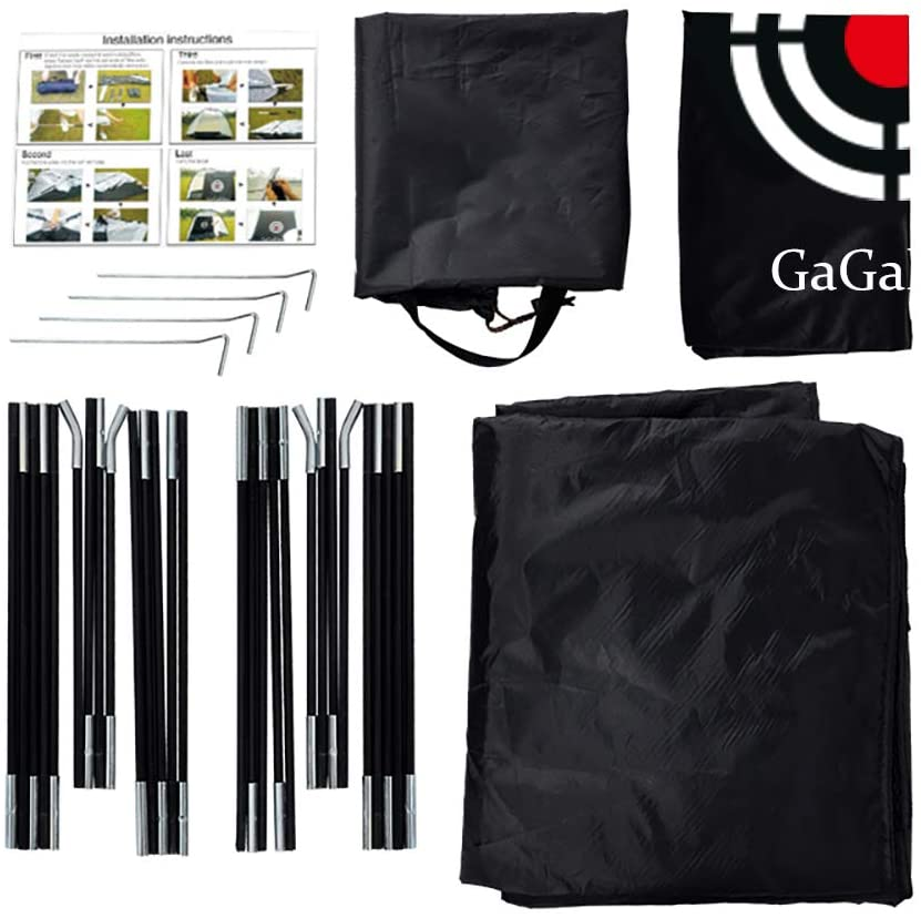 Galileo Golf Practice Net Hitting Nets with Target and Carry Bag | 10'X7'X6' Size