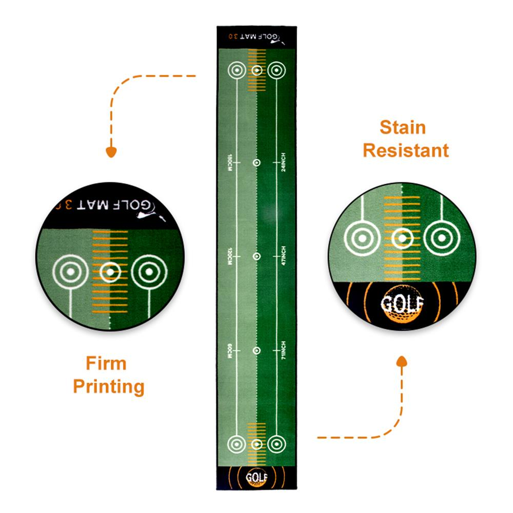 Galileo Golf Putting Mats Putting Green Golf Training Mat with Carrying Bag Putting Mats | 10'x1.6'Size