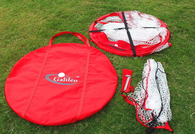 Baseball Pop-Up Round Net with Detachable Target Pocket 7'x7'|Galileo