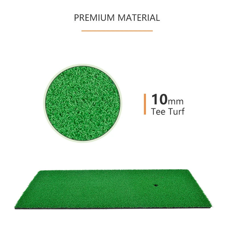 Galileo Golf Hitting Mats Golf Putting Training Practice EVA Turf Grass Mat with Tee Equipment | 24''x12''Size