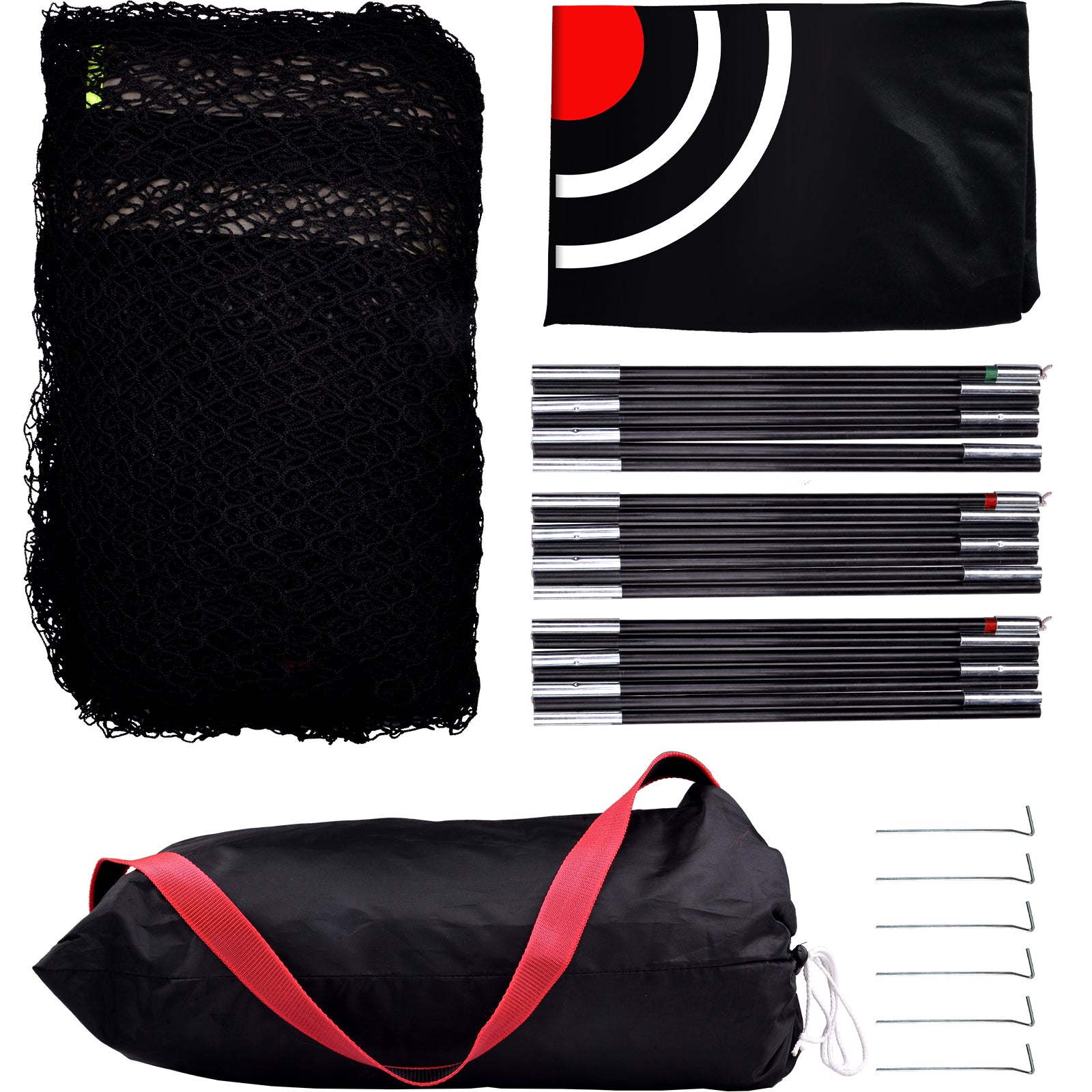 Galileo Sports Golf Nets for Indoor Use Golf Practice Net 8'(L)X 7'(H)X 7'(D) Golf Hitting Nets for Backyard Driving Range with Target and Carry Bag| Best Golf Net 2021