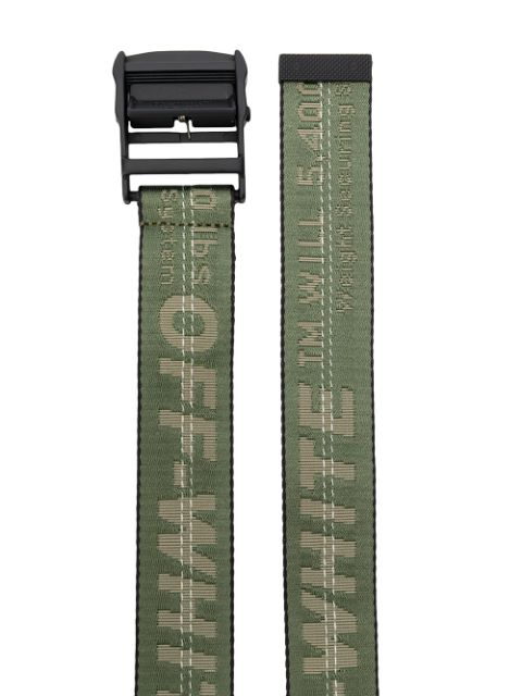 OFF-WHITE INDUSTRIAL LOGO BELT (GREEN)
