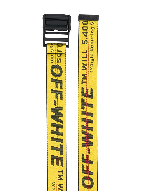 OFF-WHITE INDUSTRIAL LOGO BELT (YELLOW)