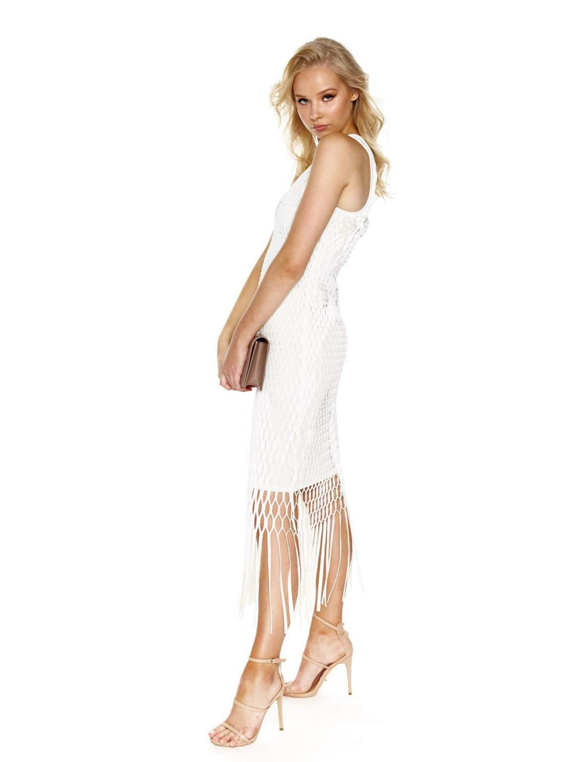 DION LEE X-RAY TANK DRESS (WHITE)