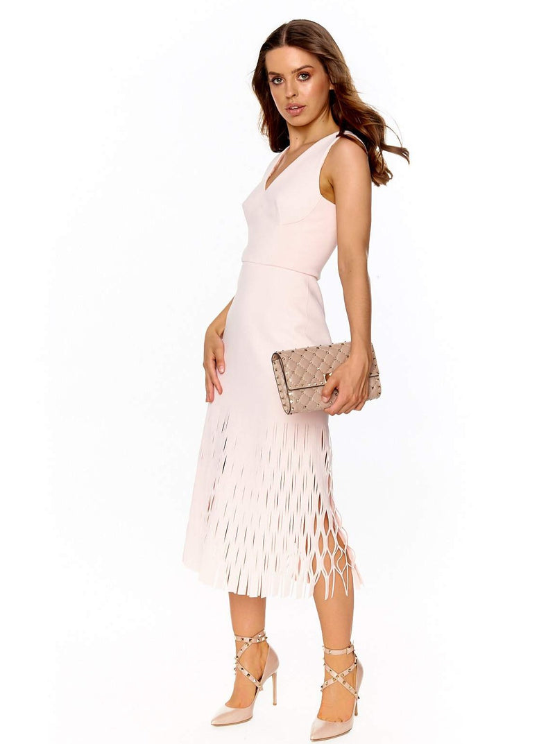 DION LEE SHADOW PERF DRESS (FROST PINK)