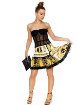 VERSACE BAROCCO PRINT PLEATED MINI SKIRT