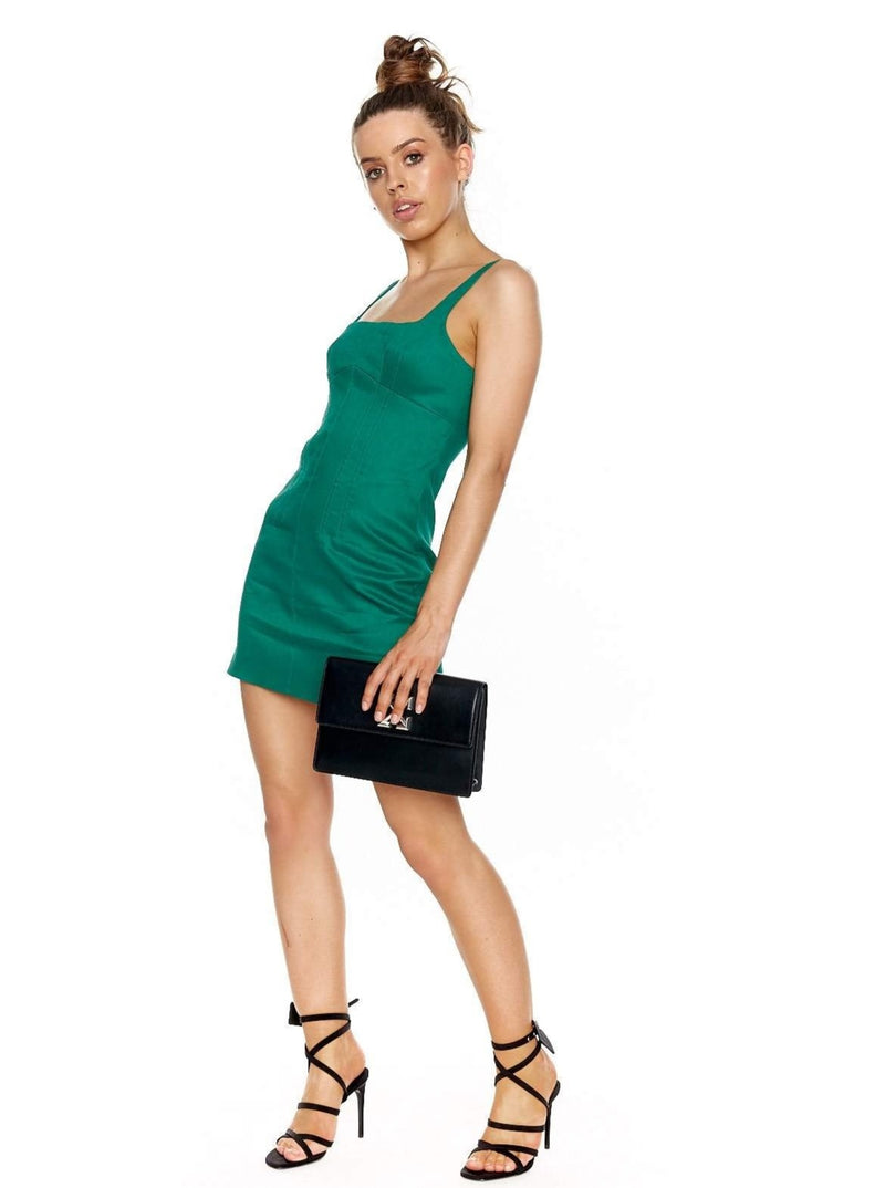 MANNING CARTELL BOTANIST MINI DRESS (GREEN)