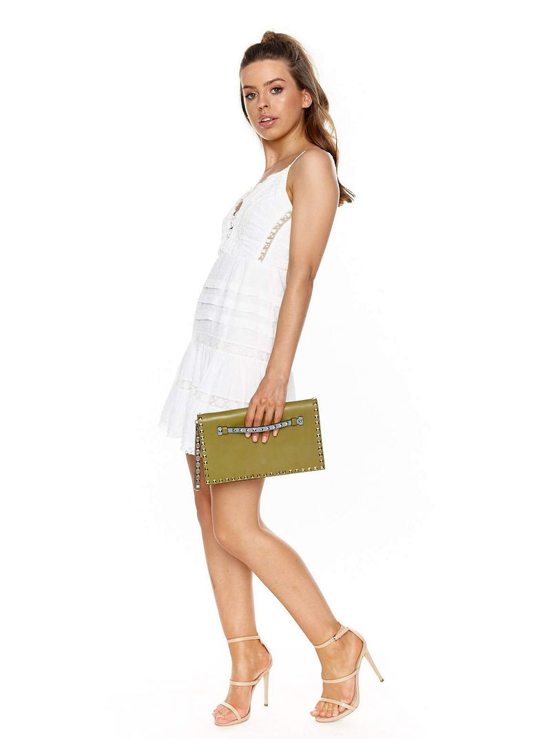 ZIMMERMANN HONOUR SCALLOP DRESS (WHITE)