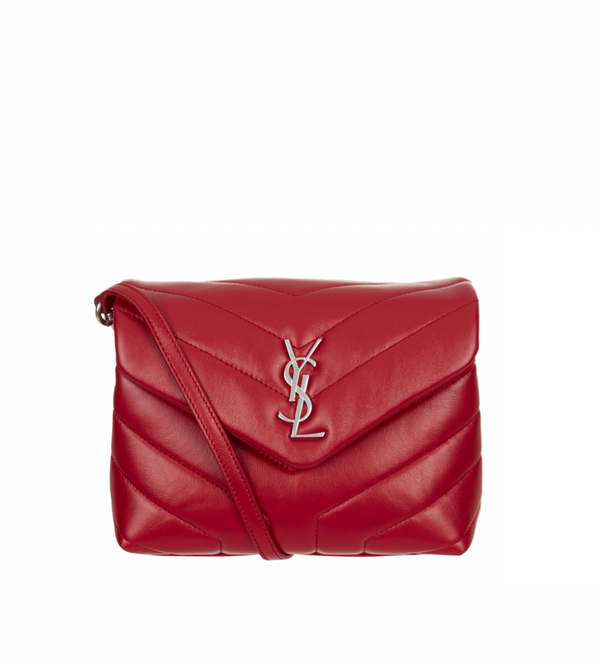 SAINT LAURENT MONOGRAM LOULOU BAG (RED)