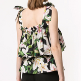 DOLCE AND GABBANA LILY PRINT TOP (FLORAL)