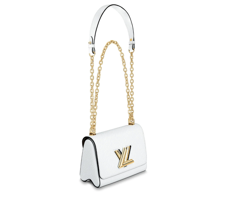 LOUIS VUITTON TWIST PM CHAIN BAG (WHITE)