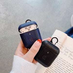 Apple Leather Fashion Airpods Caser For Airpods 1/2
