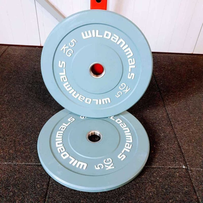 Brand New Wild Animals 2 x 5kg Coloured Olympic Bumper Plates