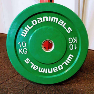 Brand New Wild Animals 2 x 10kg Coloured Olympic Bumper Plates