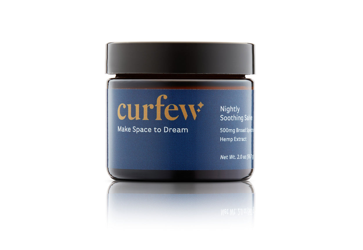 straight-on view of the FREE Nightly Salve that comes as gift with purchase of the curfew dream blanket