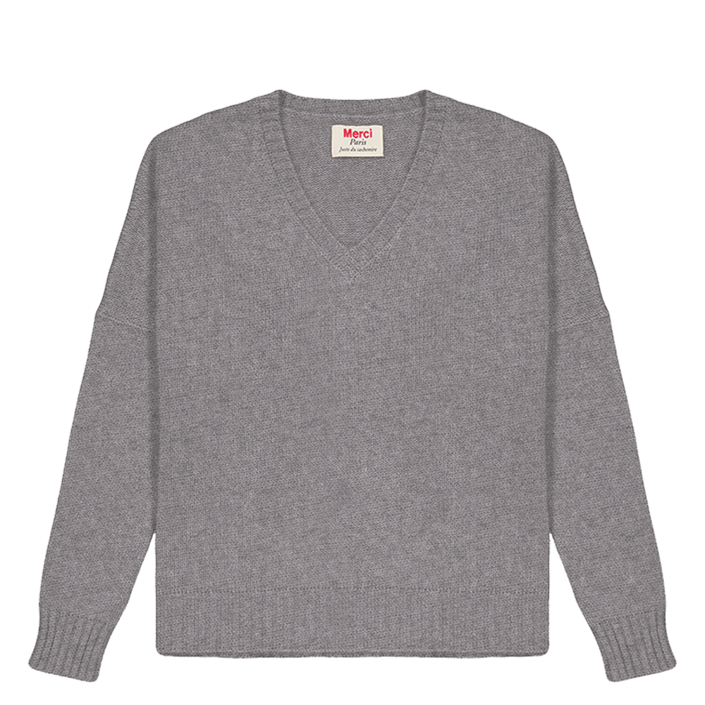 Pull en cachemire Abby - Gris Taille 2