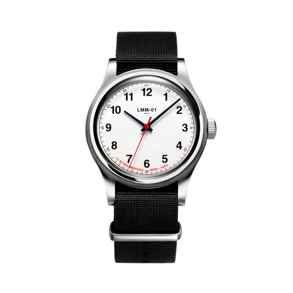 LMM-01 Original Montre Quartz en Blanc