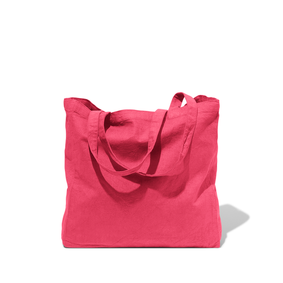 Tote Bag Merci en coton - Rose