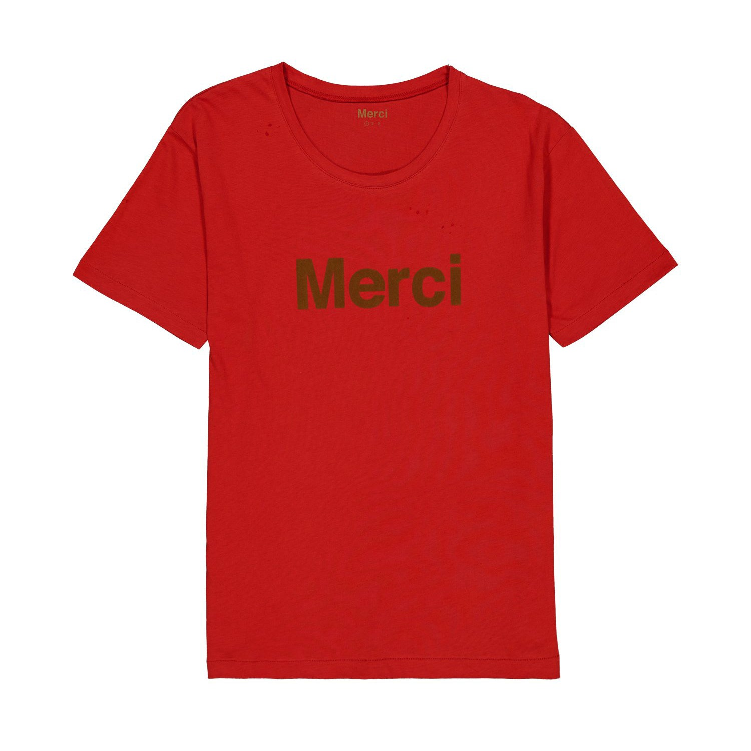 T-shirt logo Merci