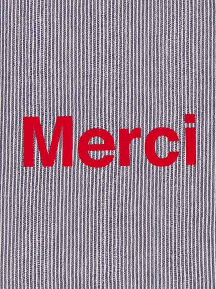 Tote bag rayé Merci