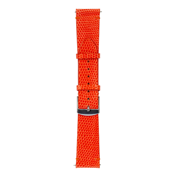 Bracelet en lézard orange