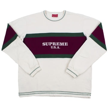 Supreme Center Stripe Crewneck