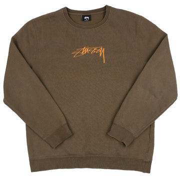 Stussy Embroidered Logo Crewneck