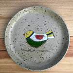 Plate Multicolor Bird, ca 19 cm