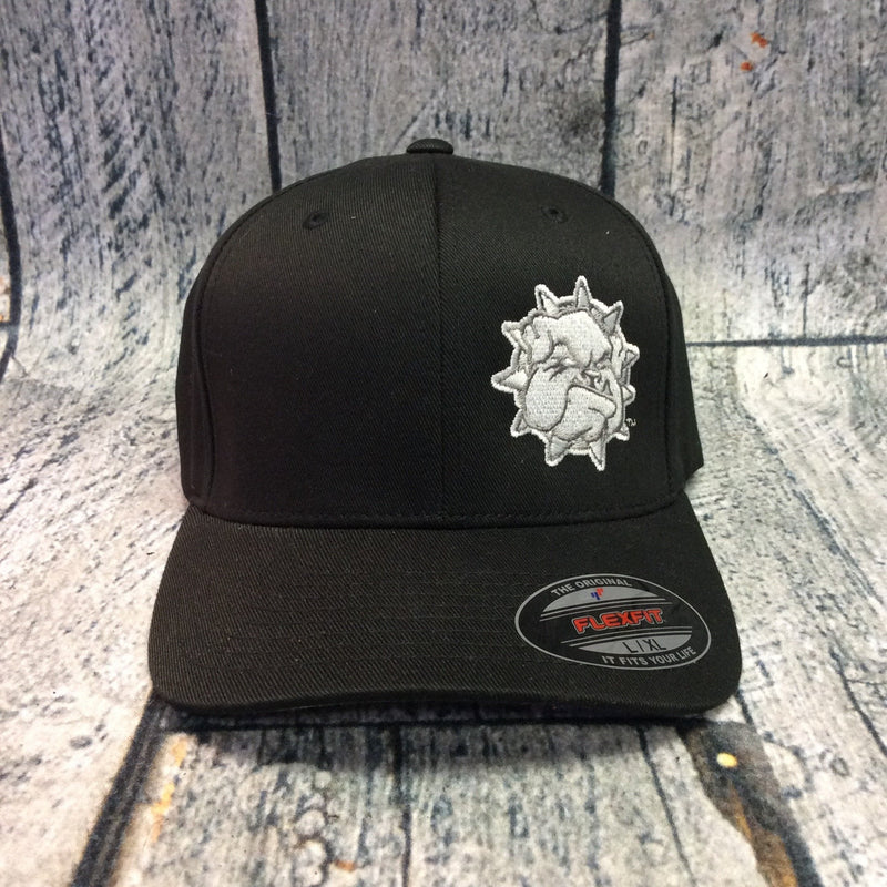 SWOSU - Black Fitted Cap - Grey Bulldog