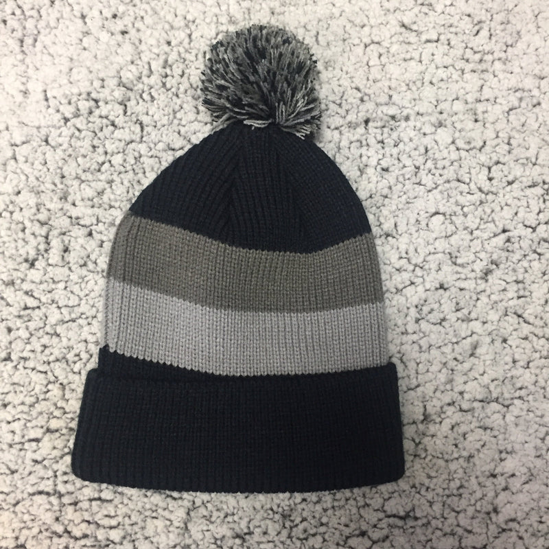 Okie-Black Striped Beanie
