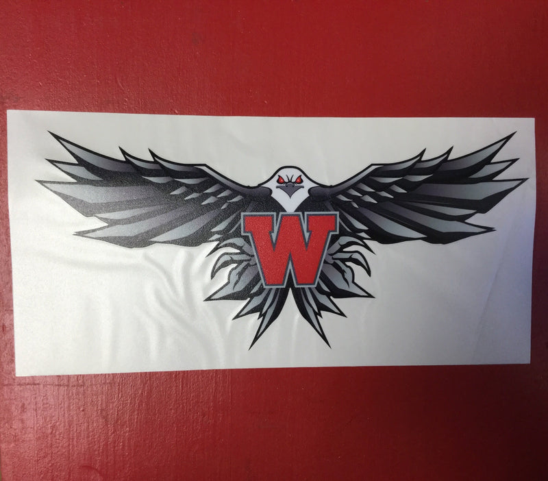 Iron Eagle Window Decal- 11""