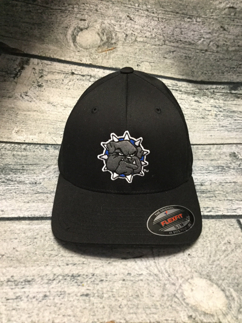 SWOSU - Black Fitted Cap - Full Color Bulldog