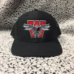 Eagles - Black With Black Mesh Richardson Snapback Cap - Iron Eagle